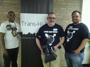 Dr. Kortney Ziegler, Kevin McCarthy and Sayer Johnson at Trans*H4CK